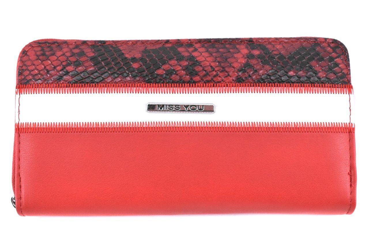 Dámská/dívčí peněženka pouzdrového typu Miss - červená 37180