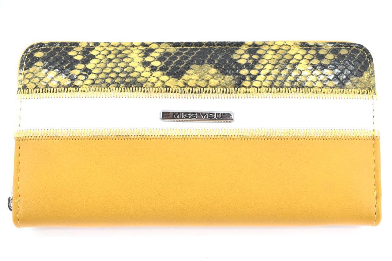 Dámská/dívčí peněženka pouzdrového typu Miss - žlutá 37180
