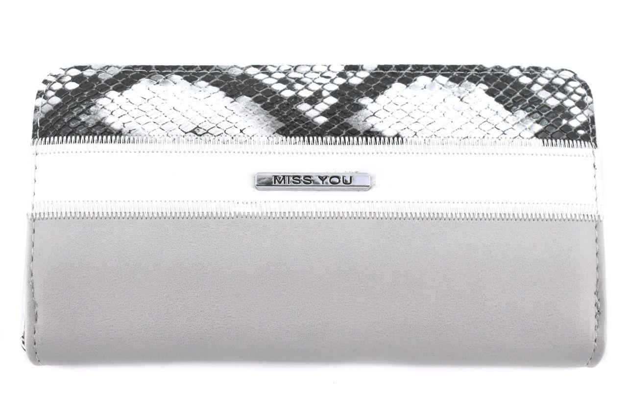 Dámská/dívčí peněženka pouzdrového typu Miss - šedá 37180