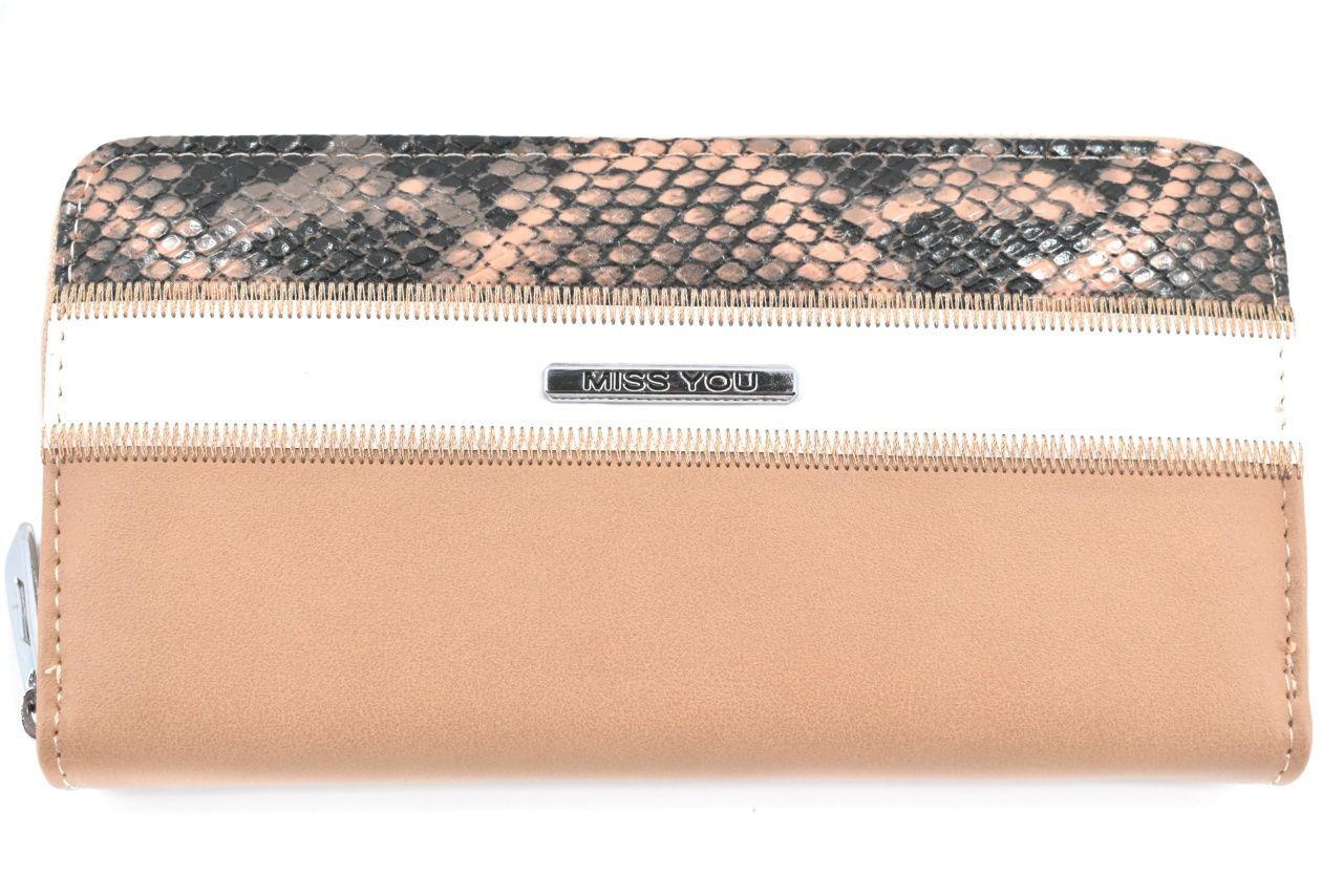 Dámská/dívčí peněženka pouzdrového typu Miss - béžová 37180