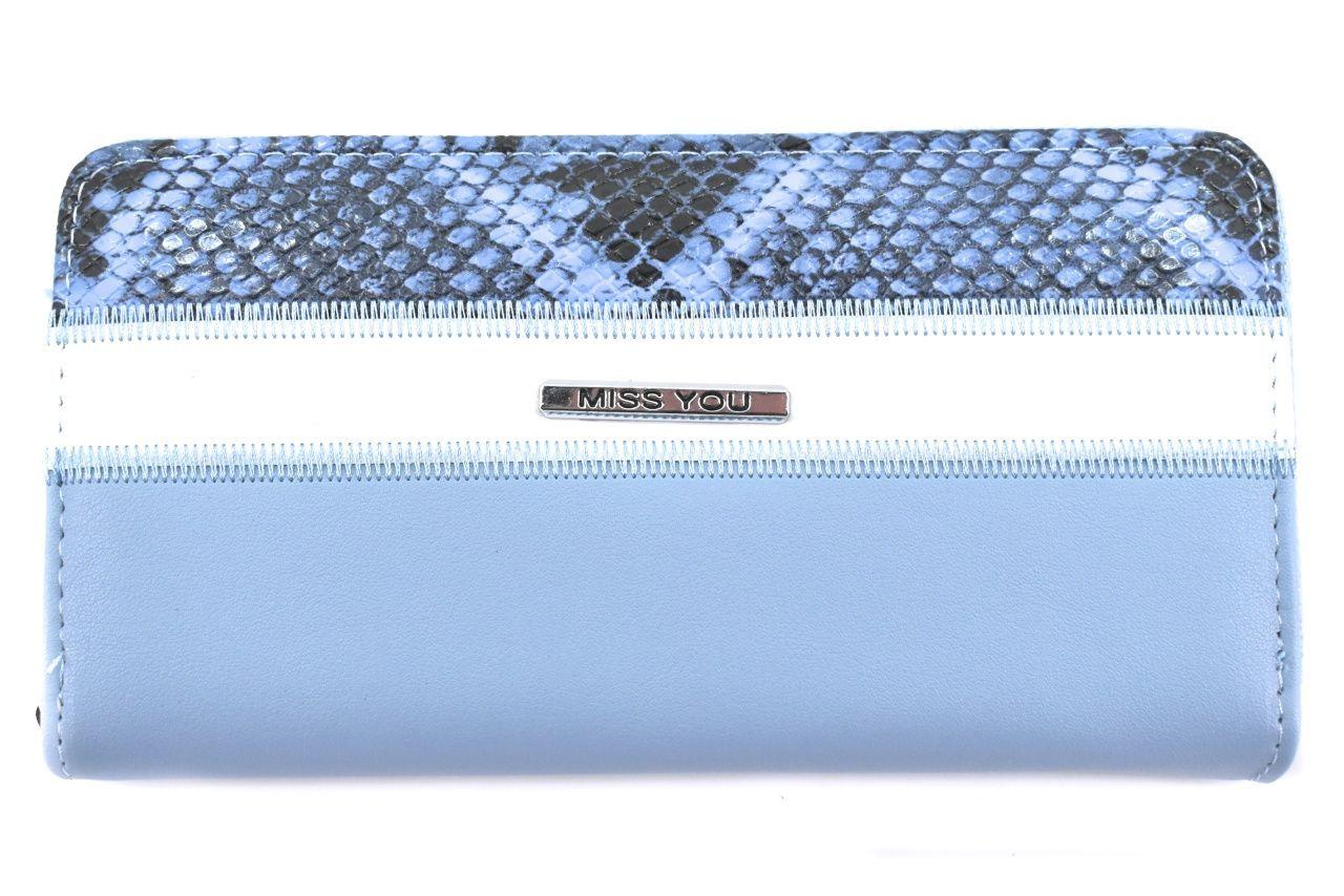Dámská/dívčí peněženka pouzdrového typu Miss - světle modrá 37180