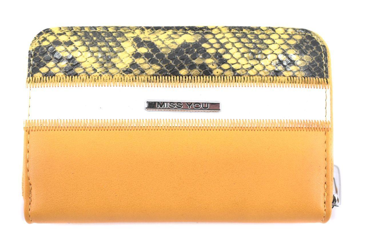 Dámská/dívčí peněženka Miss You - žlutá 37182