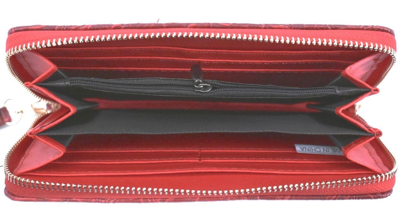 Dámská / dívčí velká peněženka pouzdrového typu s květovaným vzorem - tmavě modrá 37185