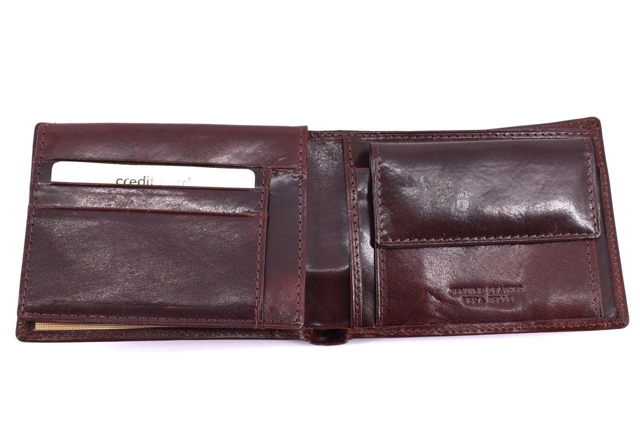 Pánská kožená peněženka Arteddy - hnědá 32220