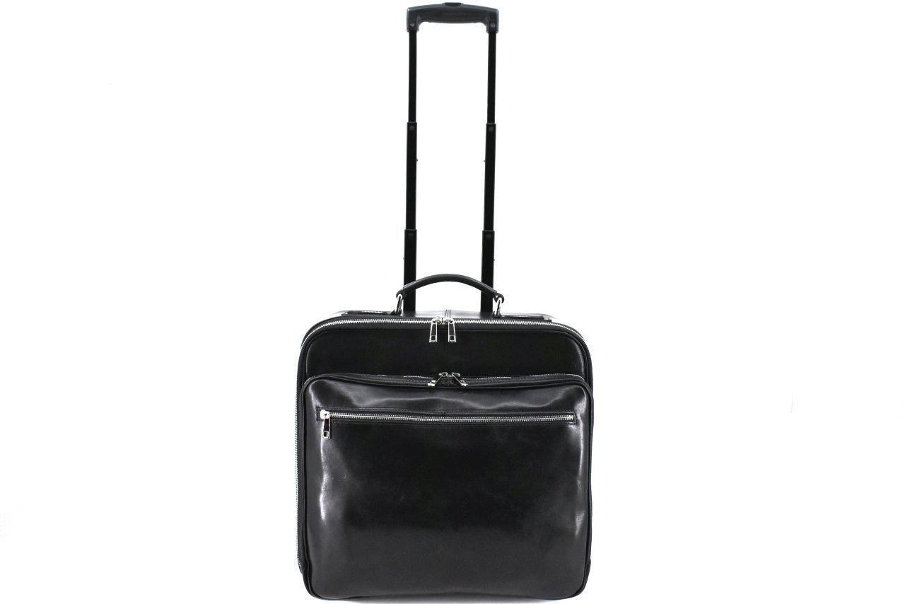 Cestovní pilotní kožený kufr Arteddy - černá 39987