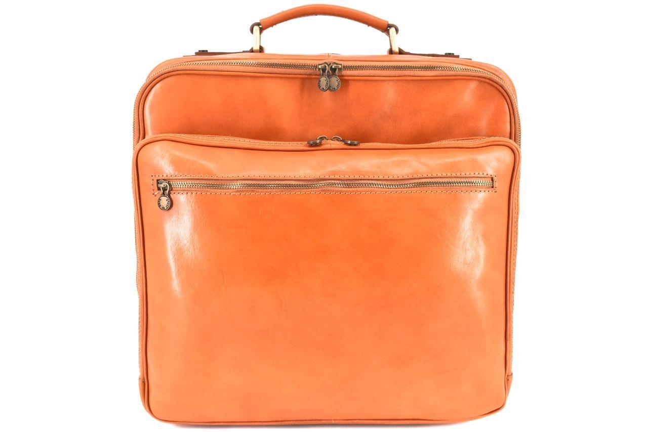 Cestovní pilotní kožený kufr Arteddy - camel 39987