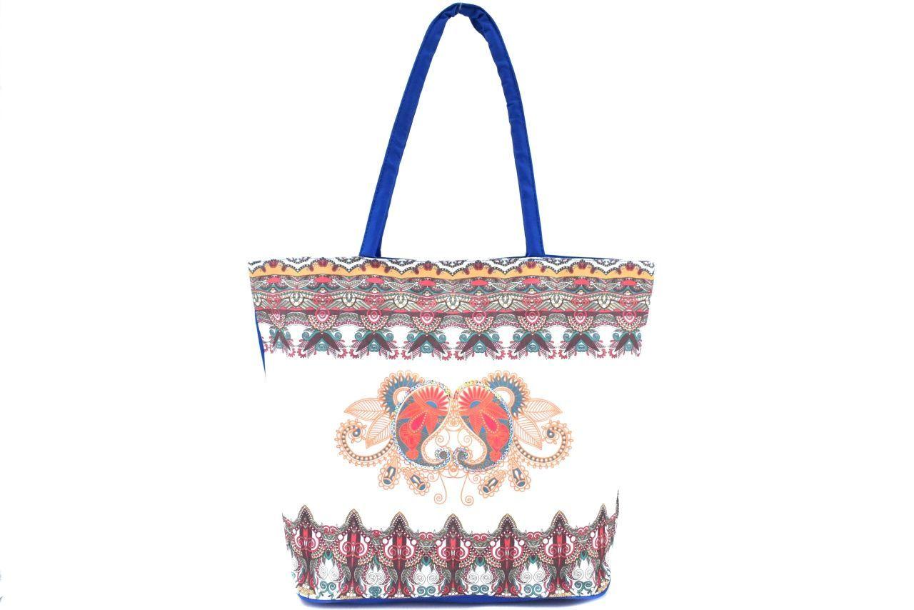 Velká plážová taška s potiskem - tmavě modrá 39963