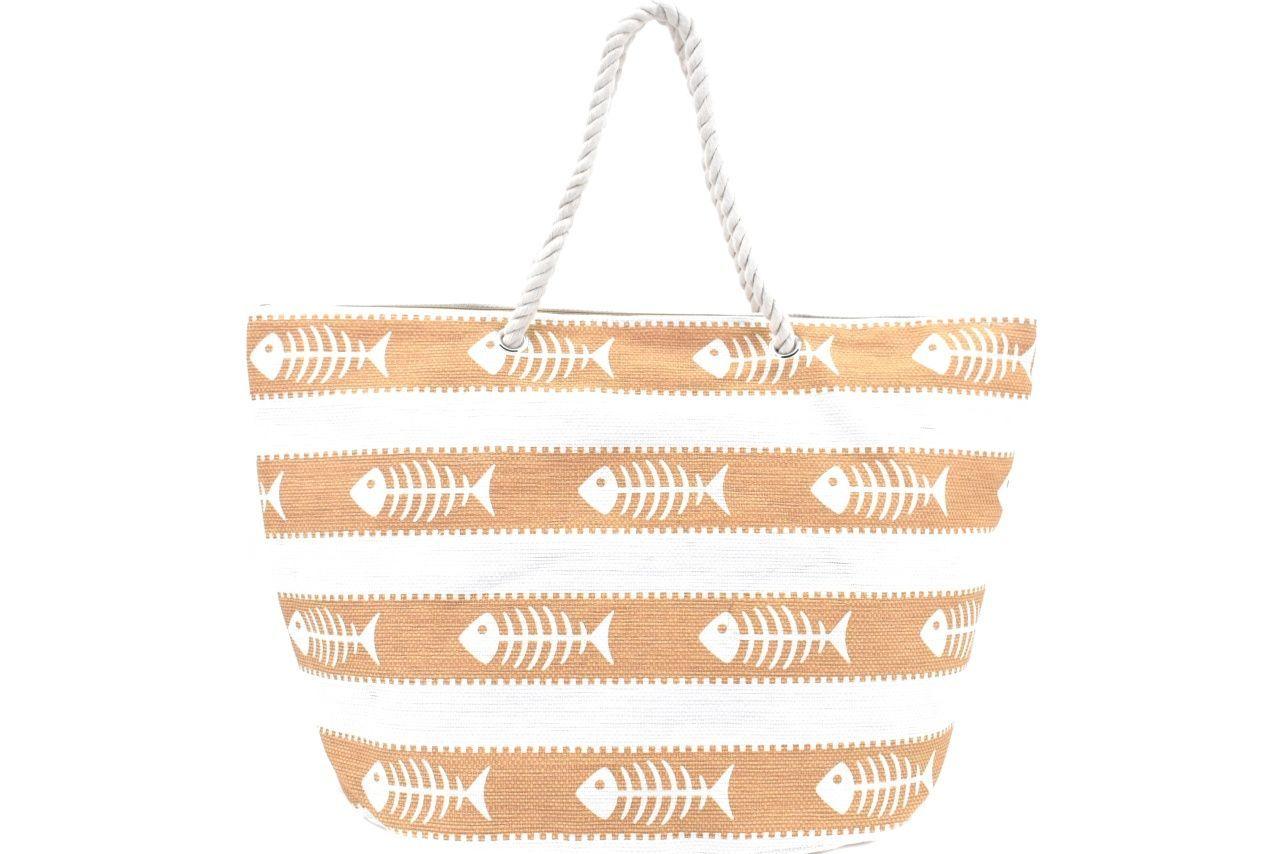 Velká plážová taška s potiskem - žlutá 39970