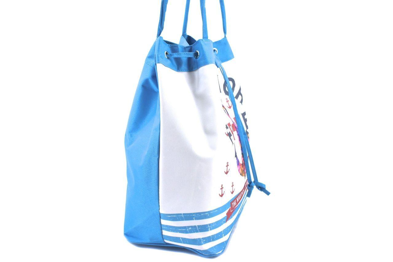 Velká plážová taška s potiskem kotva - růžová 39962