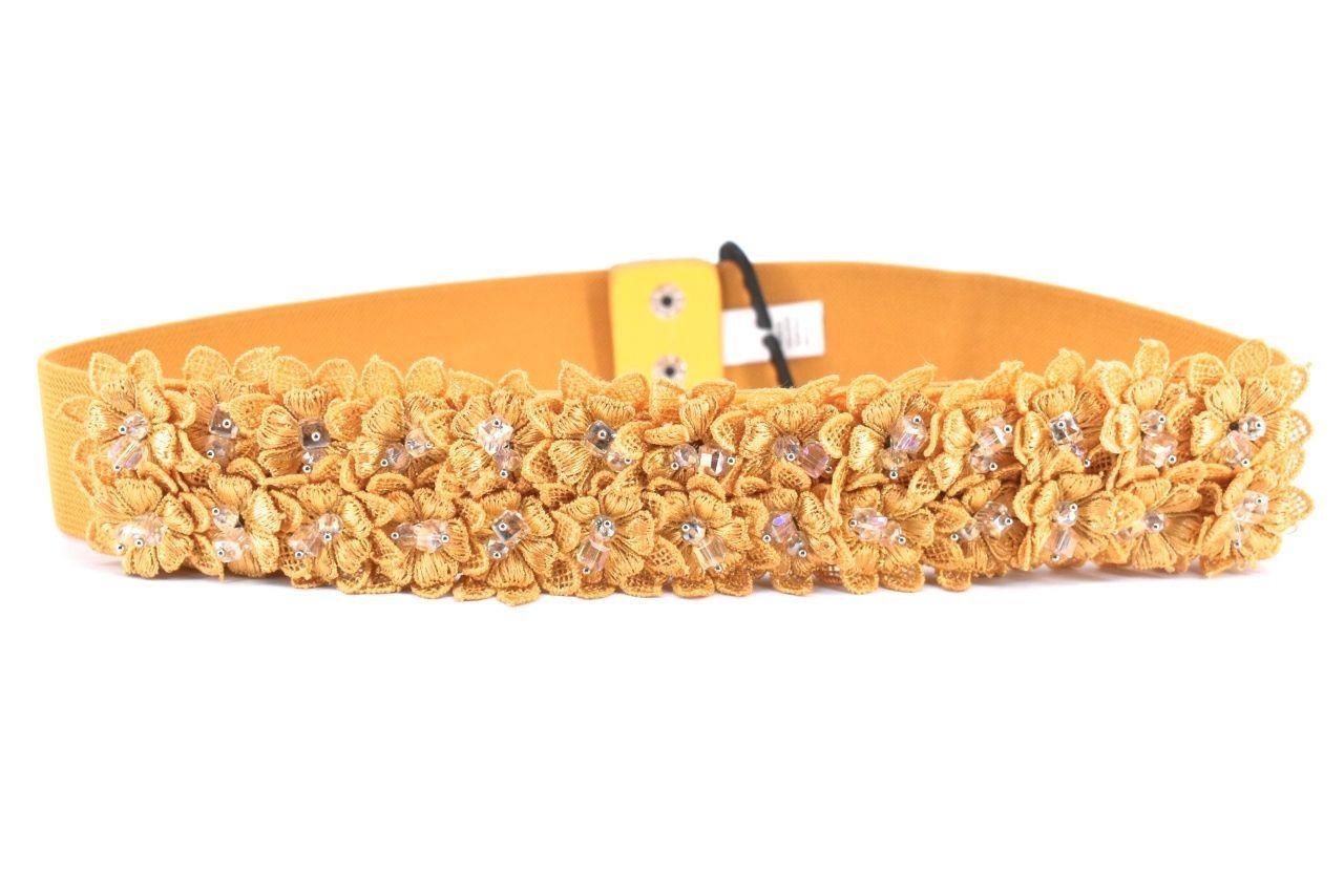 Dámský/dívčí elastický opasek Arteddy - hořčicová 68-95 39382