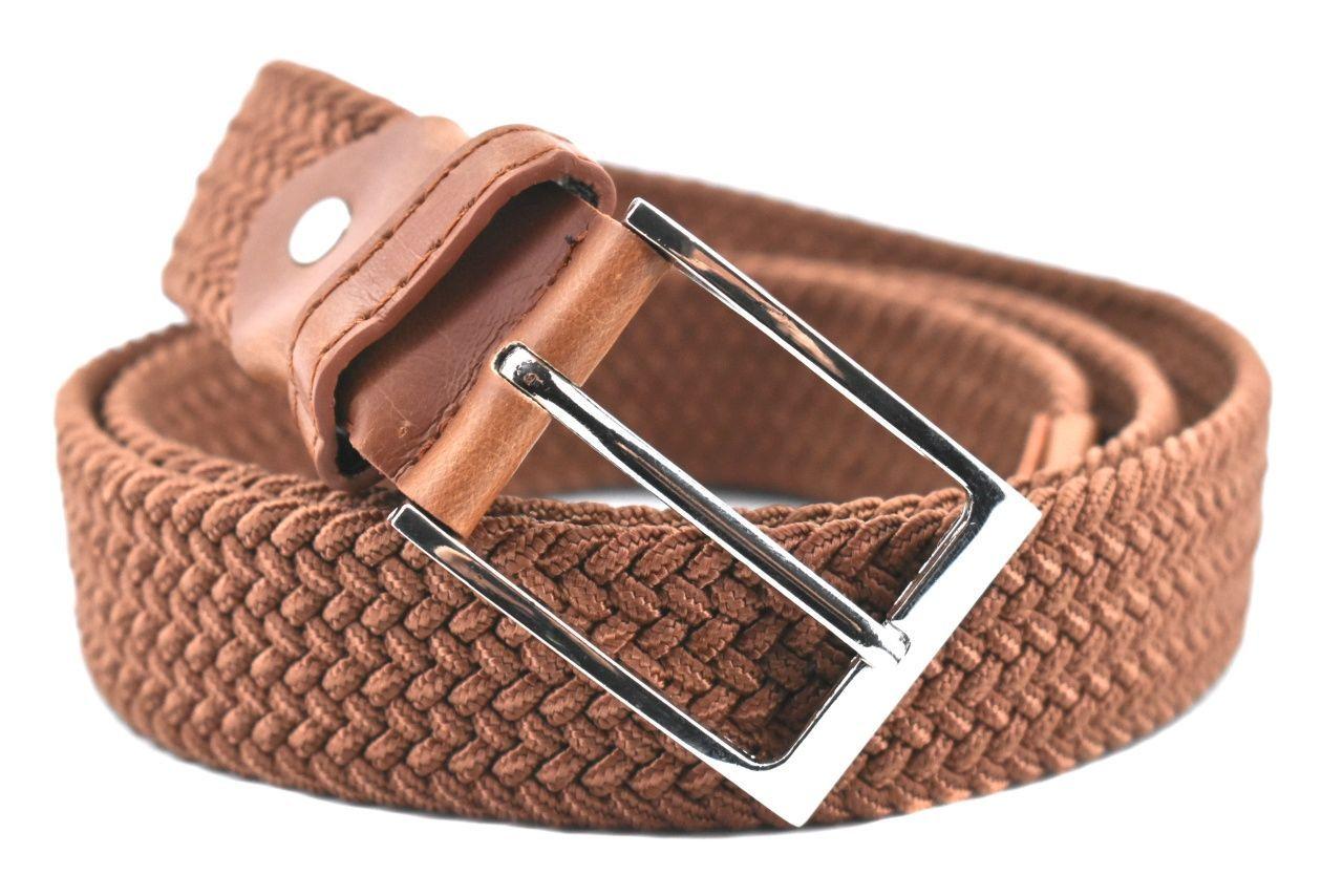 Jednobarevný elastický opasek Arteddy - hnědá /125 38506