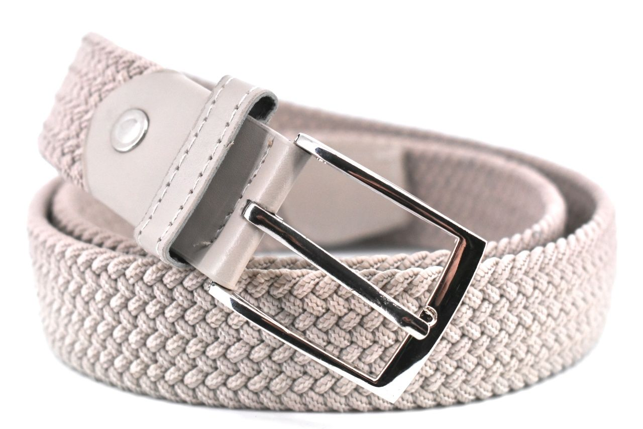 Jednobarevný elastický opasek Arteddy - světle béžová/115 38506