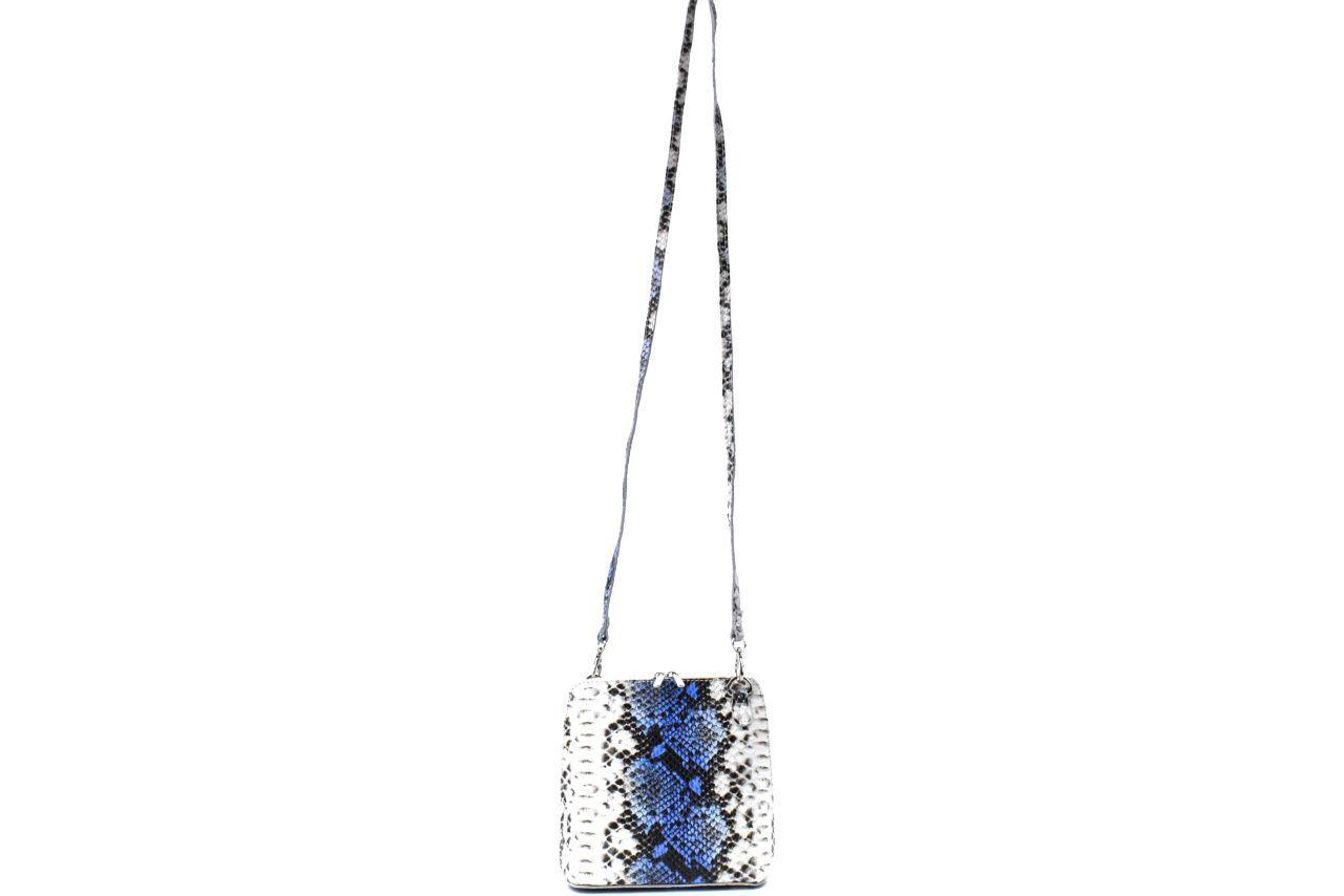 Dámská / dívčí malá kožená kabelka se vzorem hadí kůže Arteddy - lila 37204