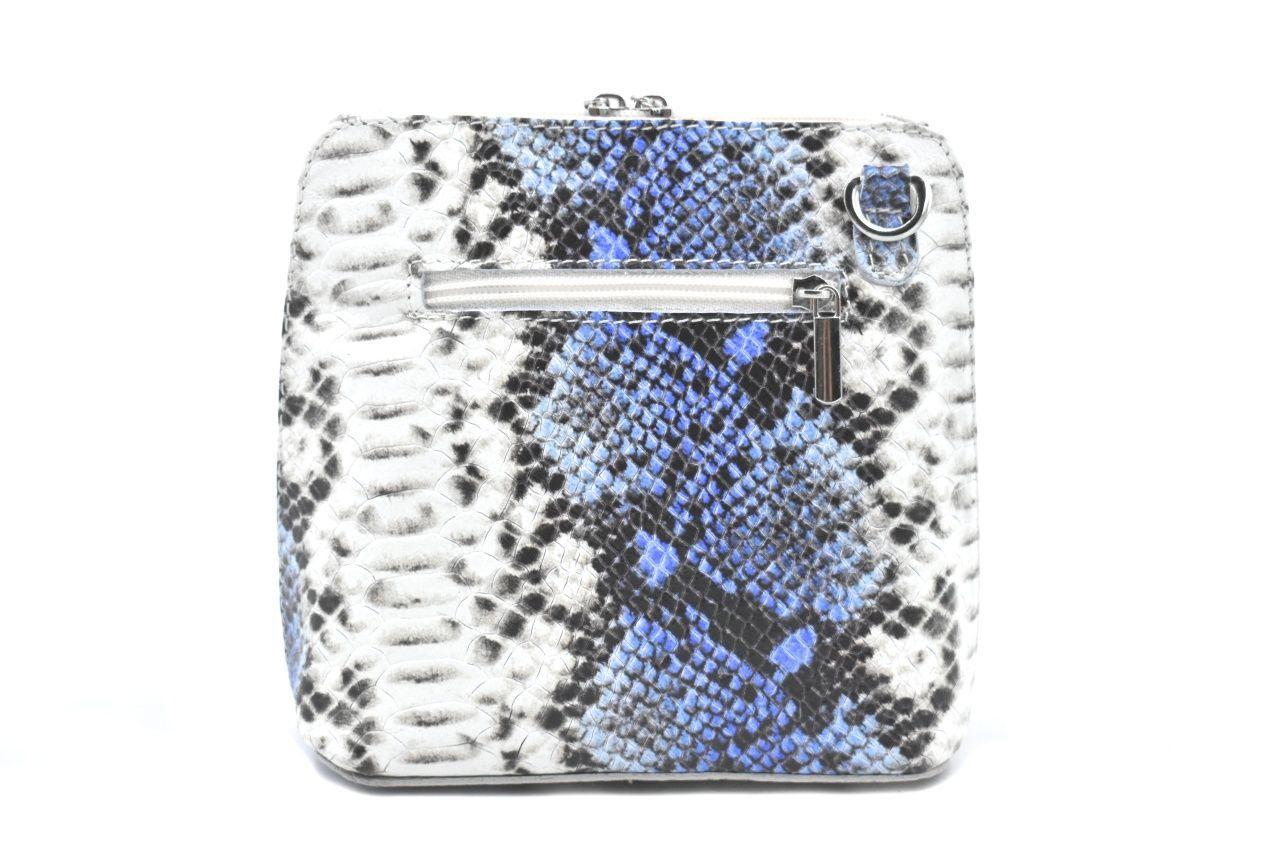 Dámská / dívčí malá kožená kabelka se vzorem hadí kůže Arteddy - modrá 37204