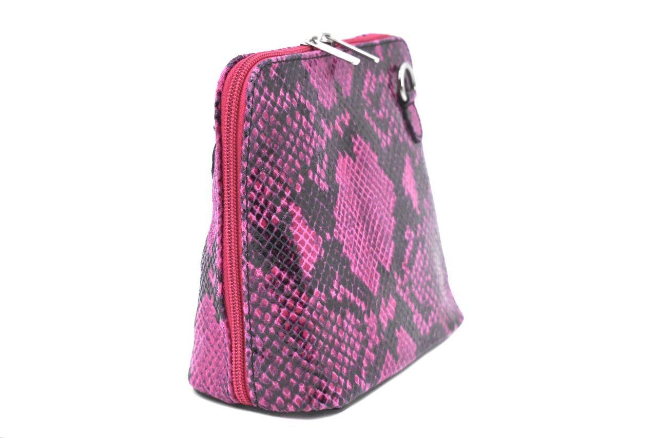 Dámská / dívčí malá kožená kabelka se vzorem hadí kůže Arteddy - fuxia 37205