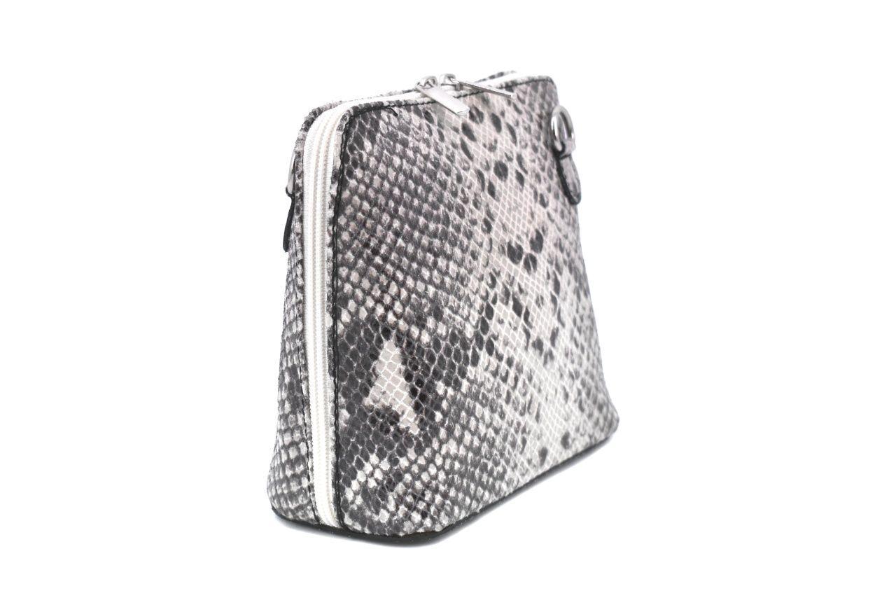 Dámská / dívčí malá kožená kabelka se vzorem hadí kůže Arteddy - krémová 37205