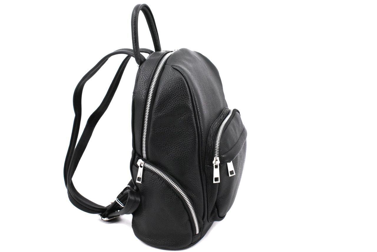 Dámský kožený batoh Arteddy - světle hnědá 39991