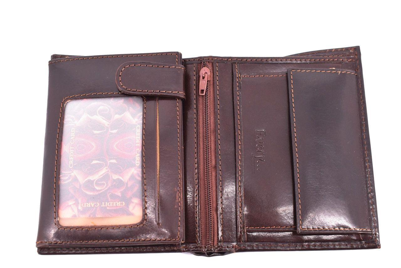 Pánská kožená peněženka Every - tmavě hnědá 32593