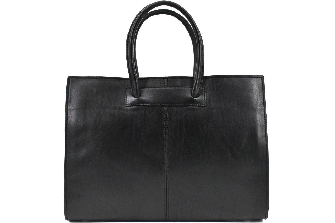 Luxusní dámská kožená kabelka Arteddy - černá