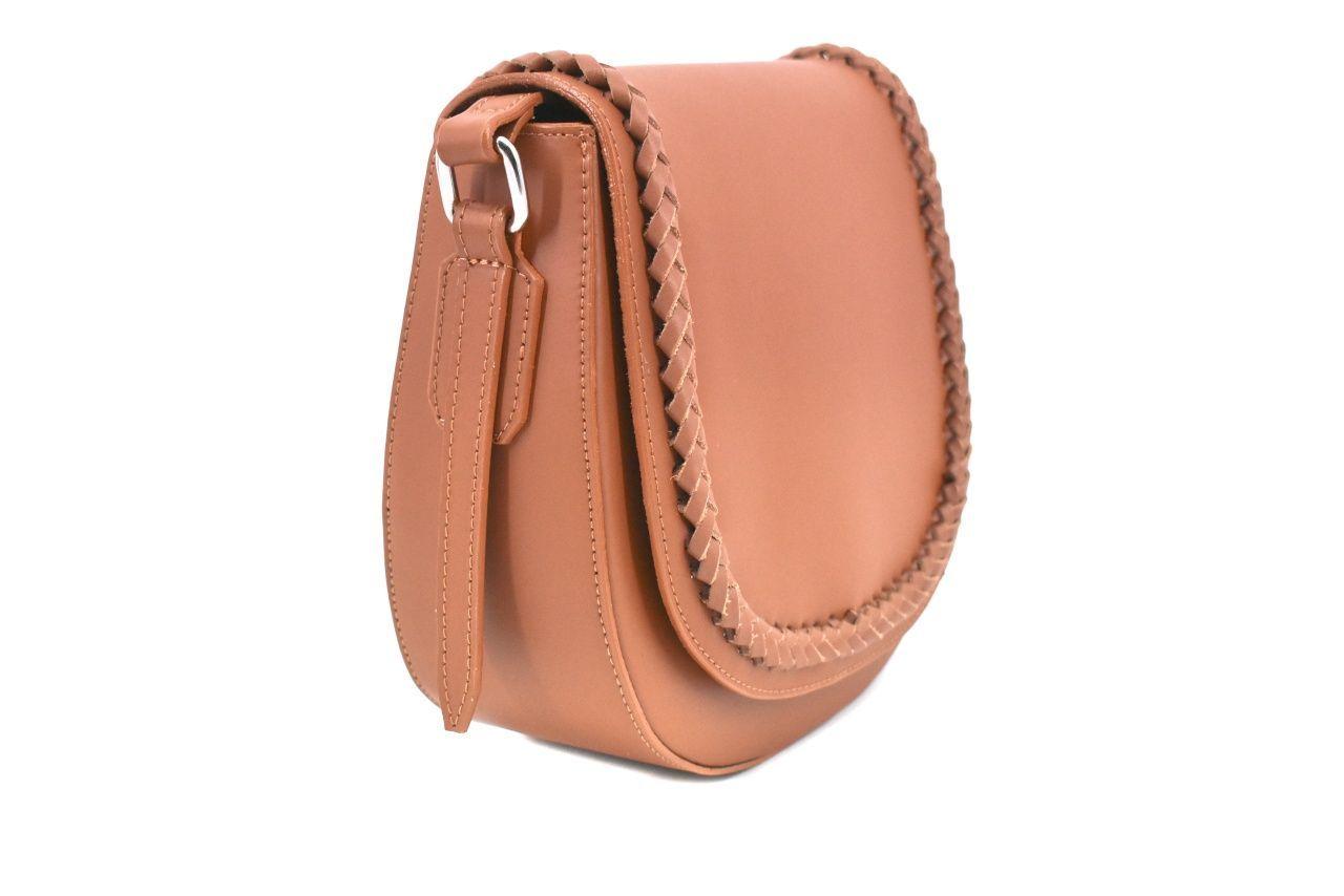 Dámská kožená kabelka s klopnou Arteddy - hnědá 38986