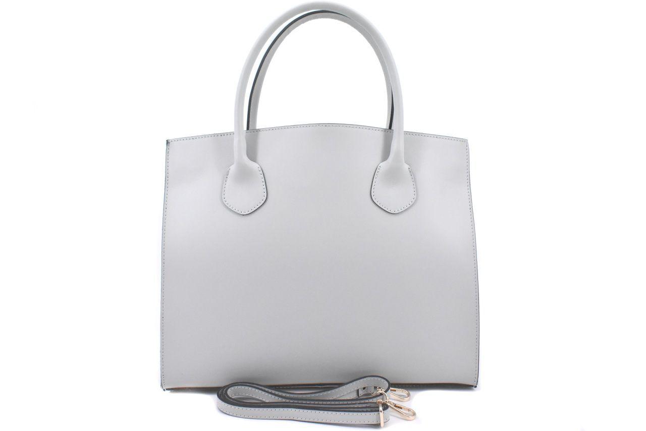 Dámská velká kožená kabelka Arteddy - šedá 37210