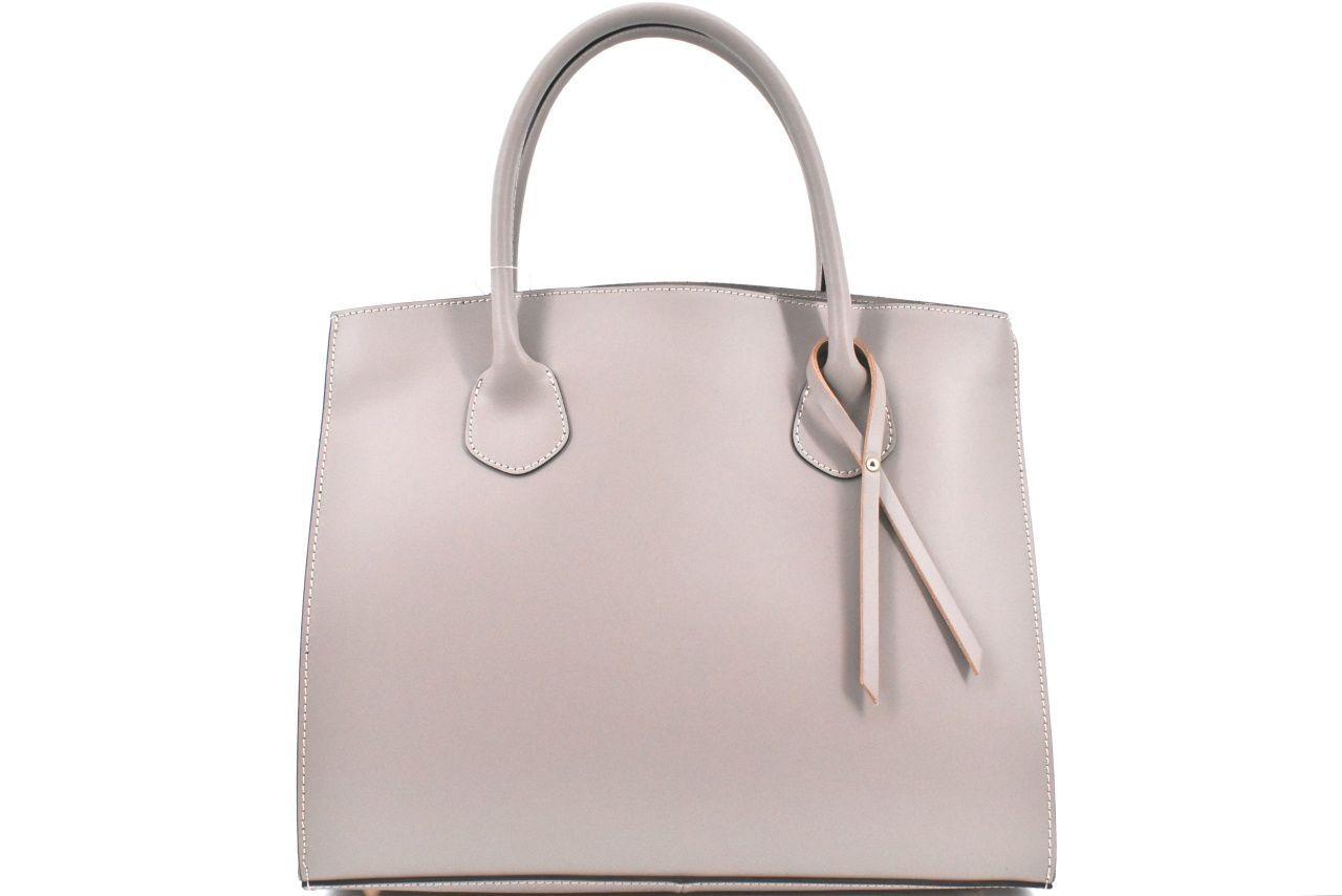 Dámská velká kožená kabelka Arteddy - taupe