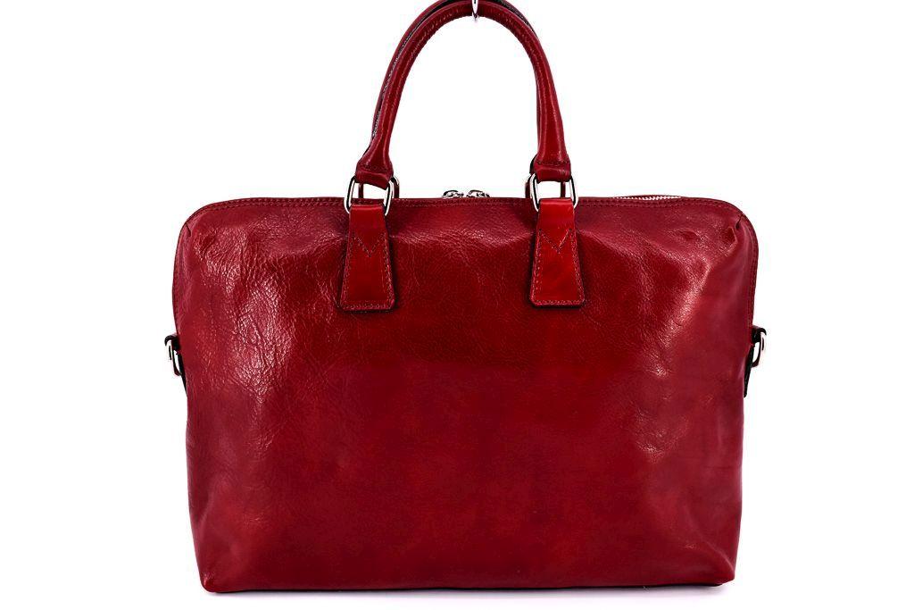 Dámská kožená kabelka Arteddy - červená 29630