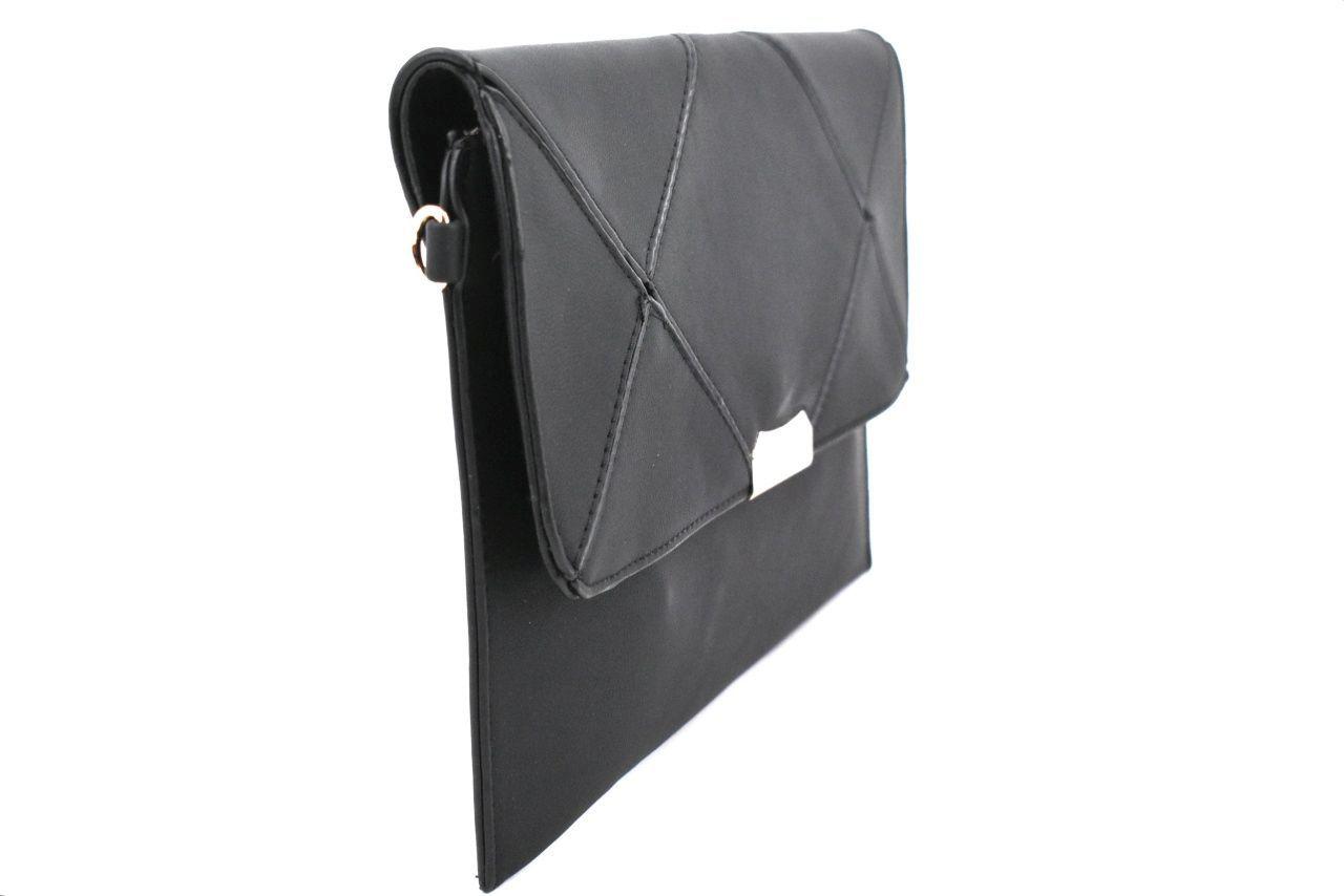 Dámská kabelka psaníčko s klopnou - krémová 39132