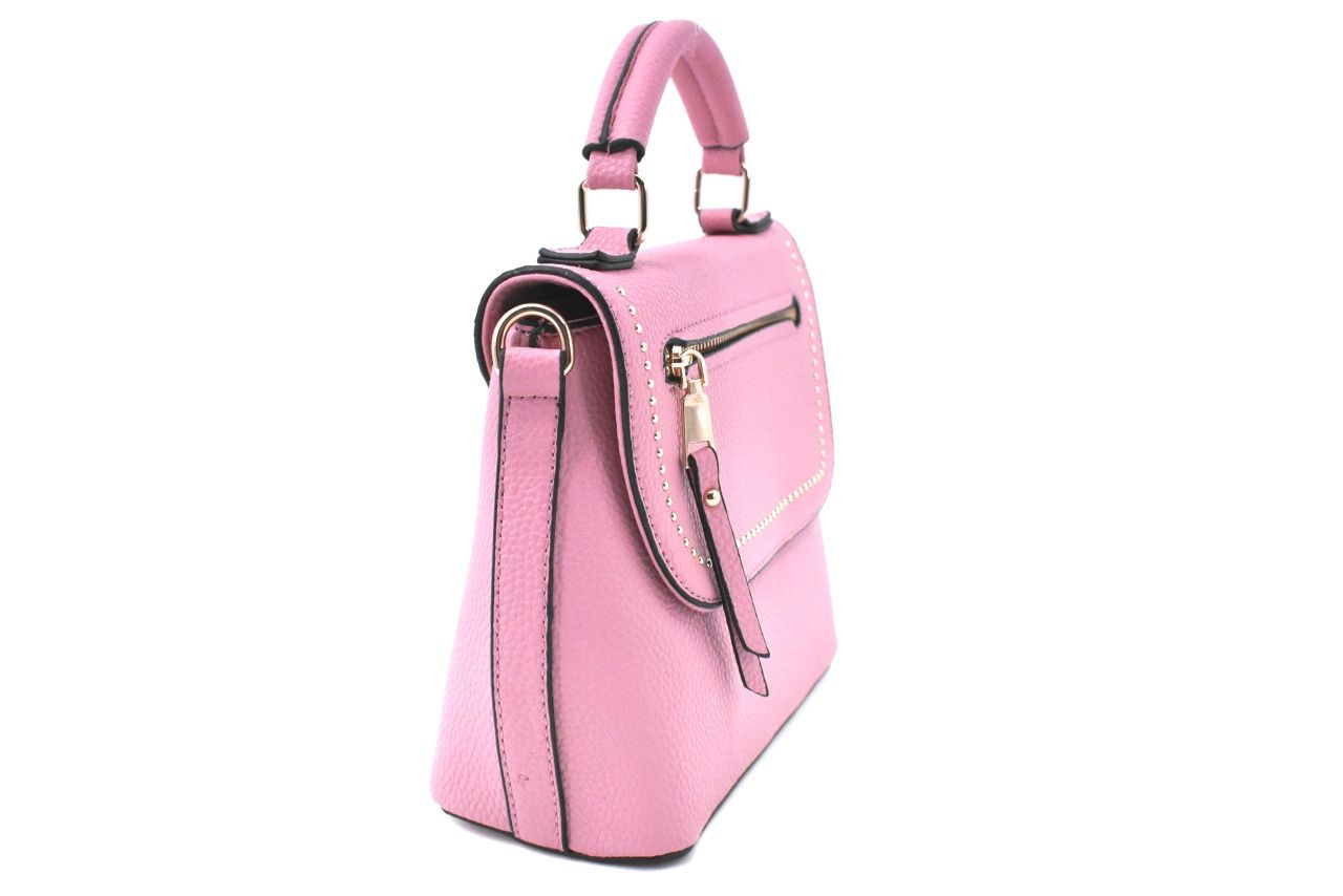 Dámská/dívčí kabelka s klopnou - růžová 37171