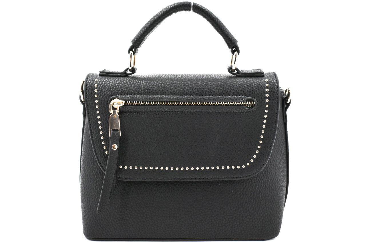 Dámská/dívčí kabelka s klopnou - černá 37171
