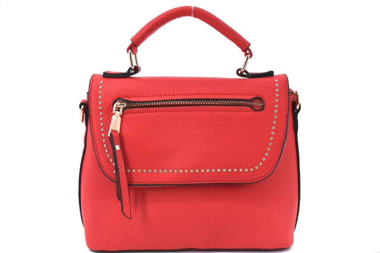 Dámská/dívčí kabelka s klopnou - červená 37171