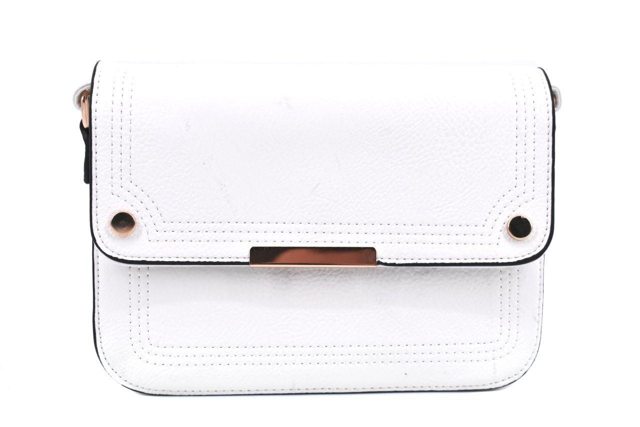 Dámská / dívčí kabelka s klopnou crossbody - bílá 37173
