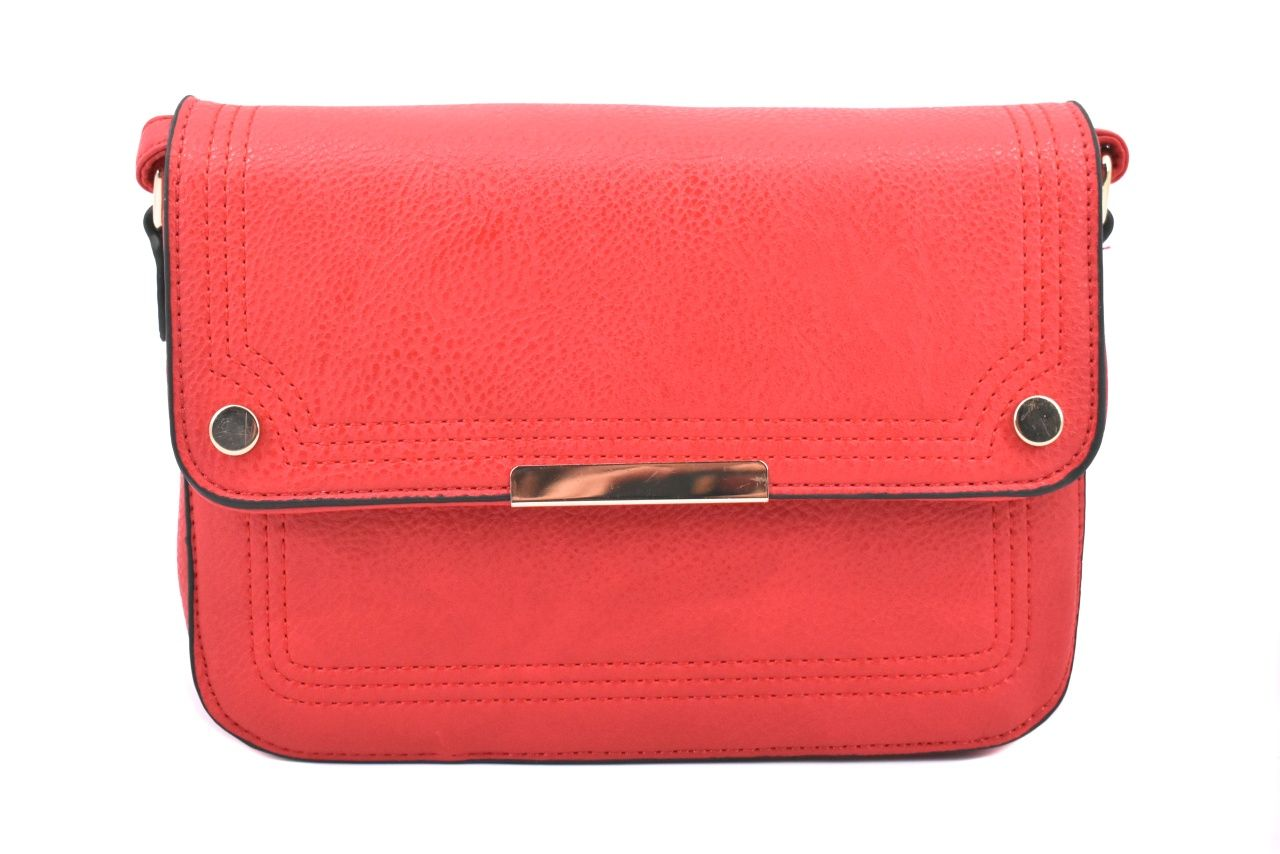 Dámská / dívčí kabelka s klopnou crossbody - červená 37173