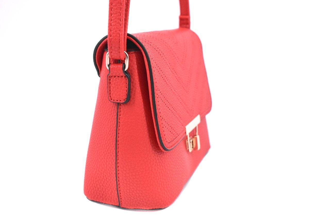 Dámská elegantní kabelka s klopnou - růžová 37172