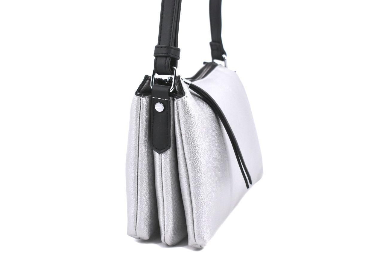 Dámská kabelka crossbody Tommasini - stříbrná 39189