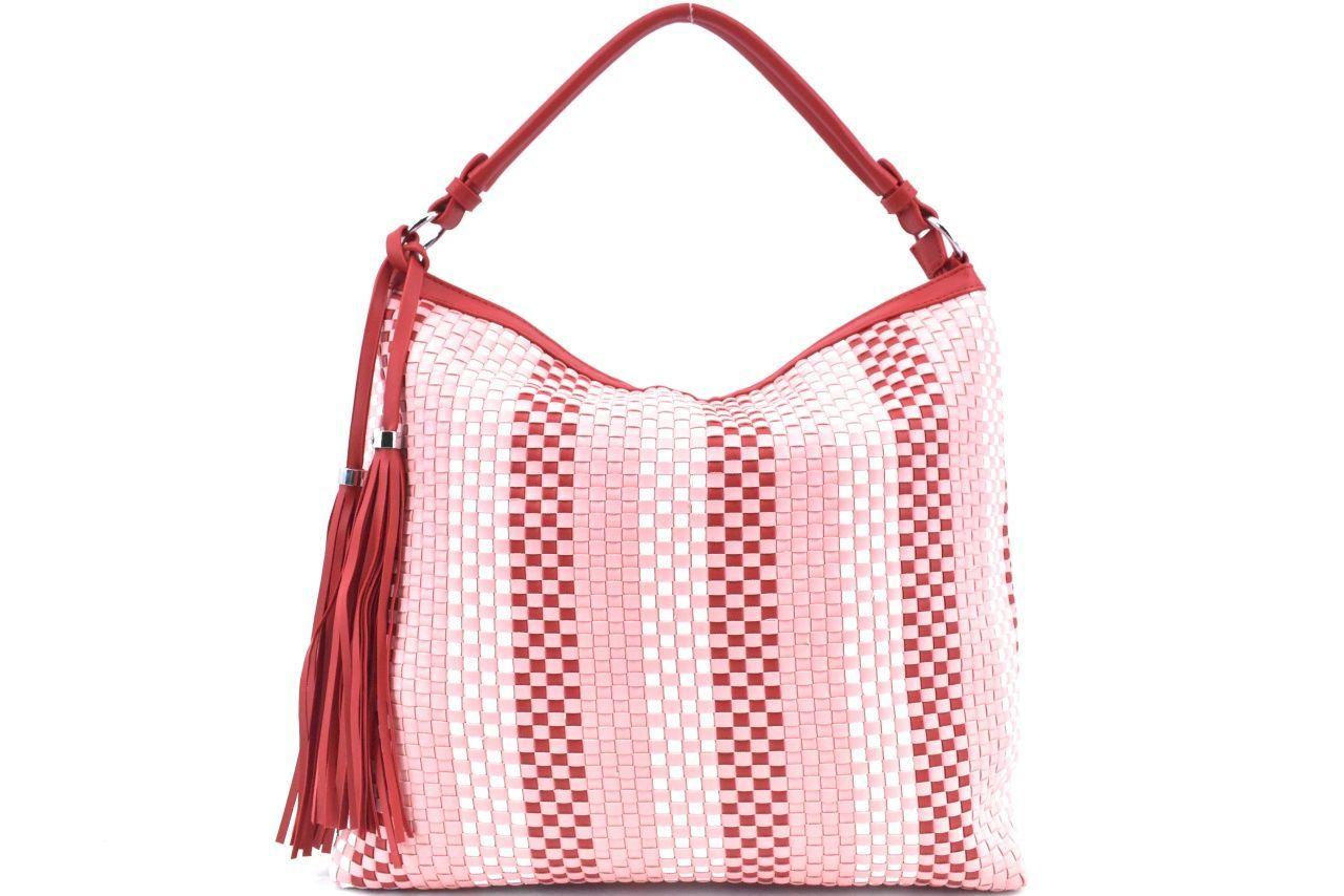 Dámská kabelka s přívěskem Venere - růžová/červená 39216