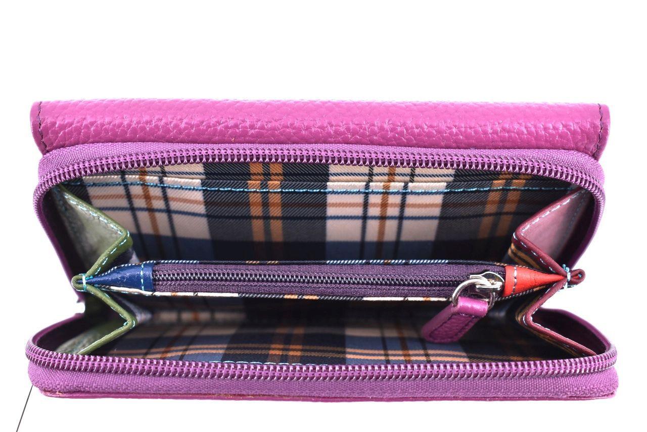 Dámská kožená peněženka Arteddy - tmavě hnědá 34563