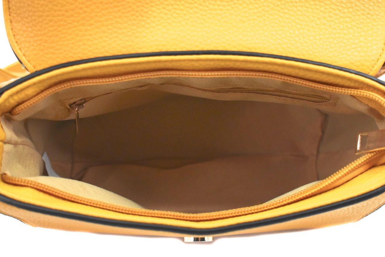 Dámská kabelka s klopnou - červená 39062
