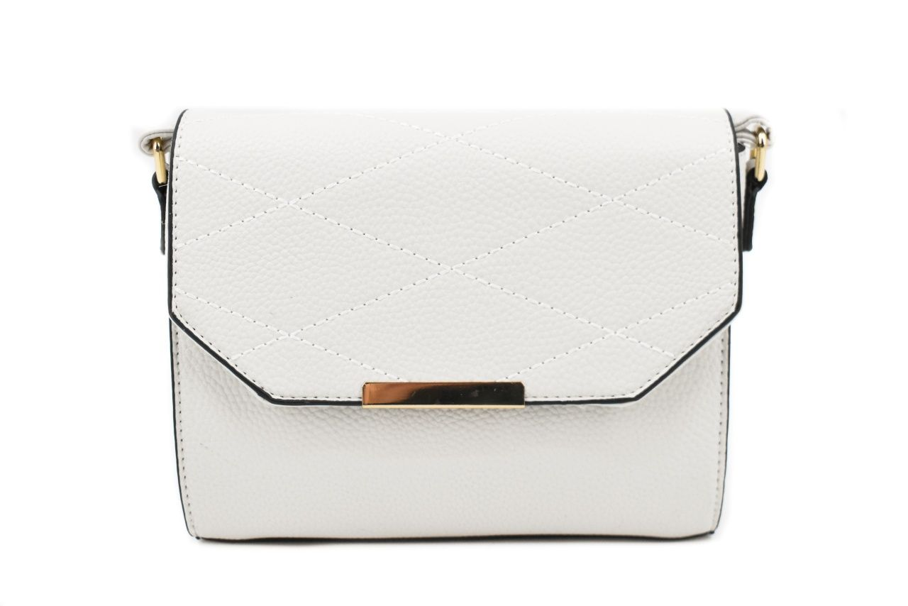 Dámská kabelka s klopnou - krémová 39062