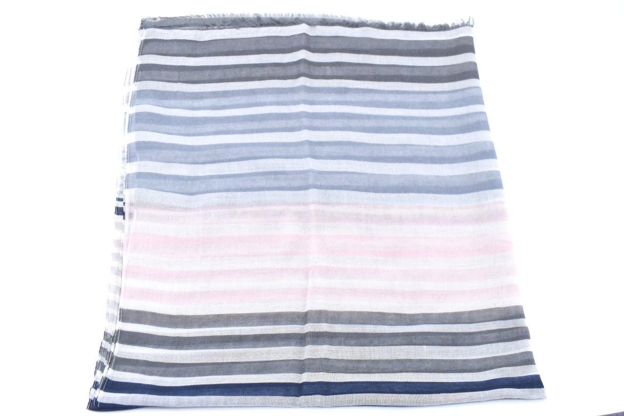 Dámský šátek s pruhovaným vzorem - šedá