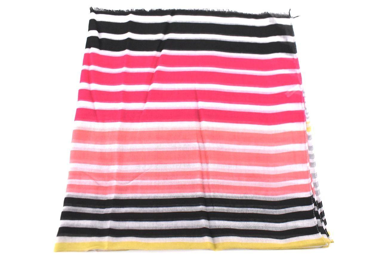 Dámský šátek s pruhovaným vzorem - fuxia