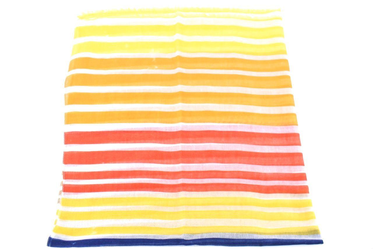 Dámský šátek s pruhovaným vzorem - žlutá