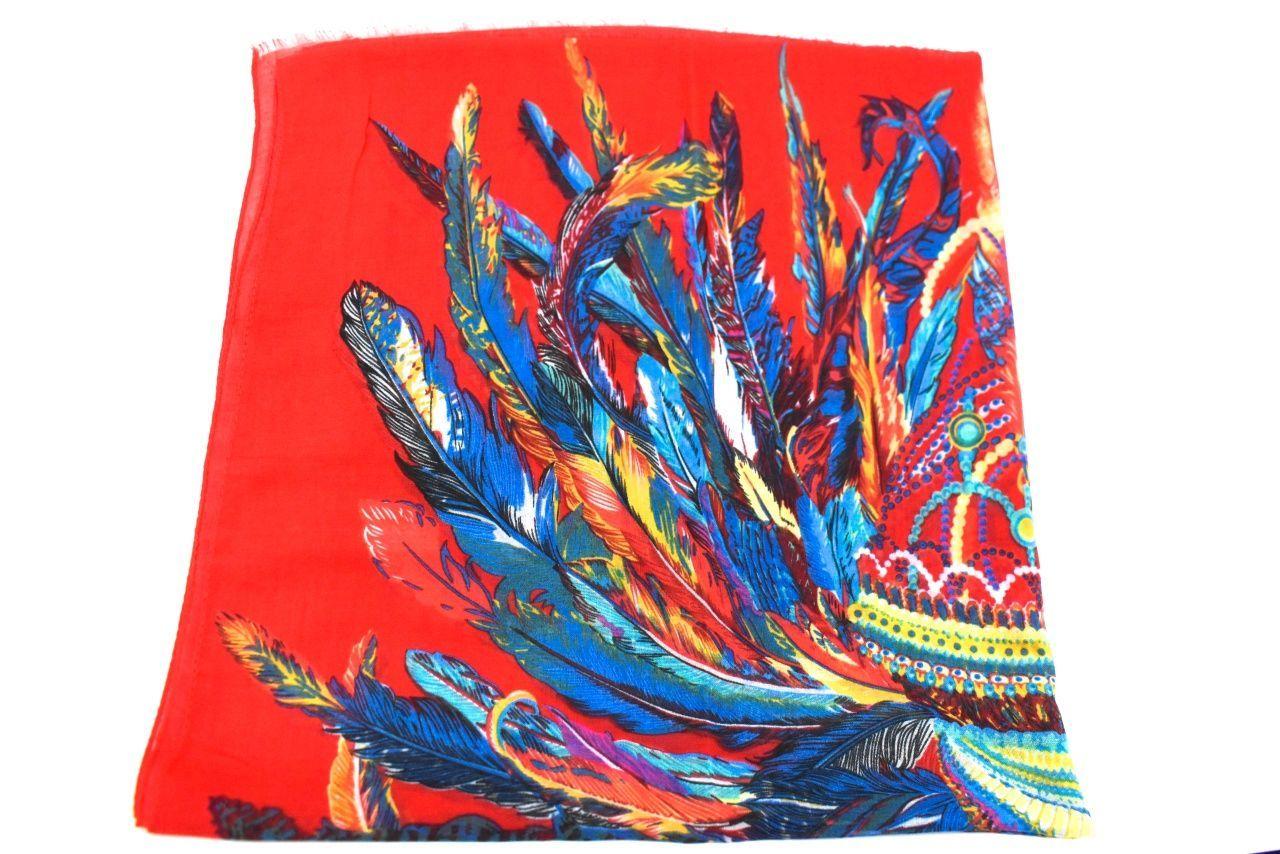 Dámský šátek s potiskem- červená