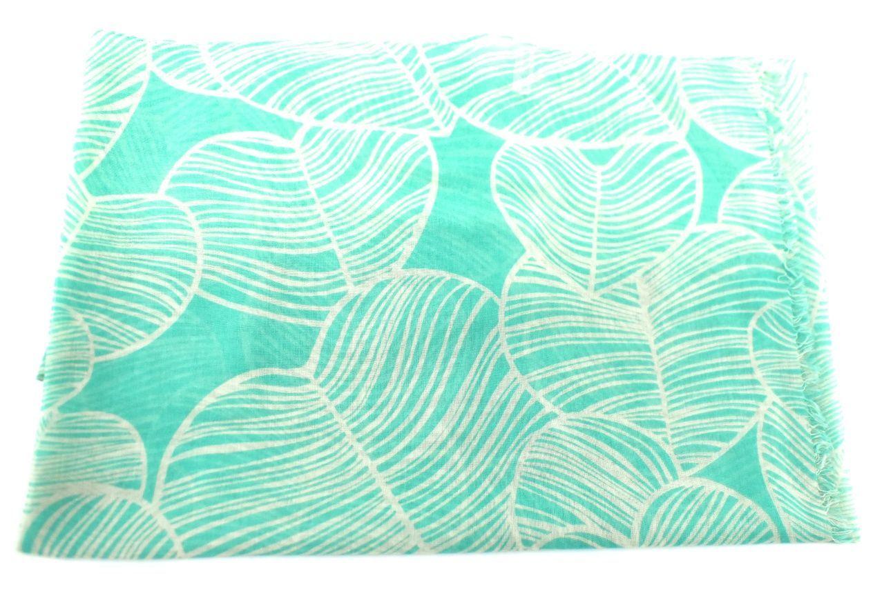Moderní šátek s potiskem - zelená