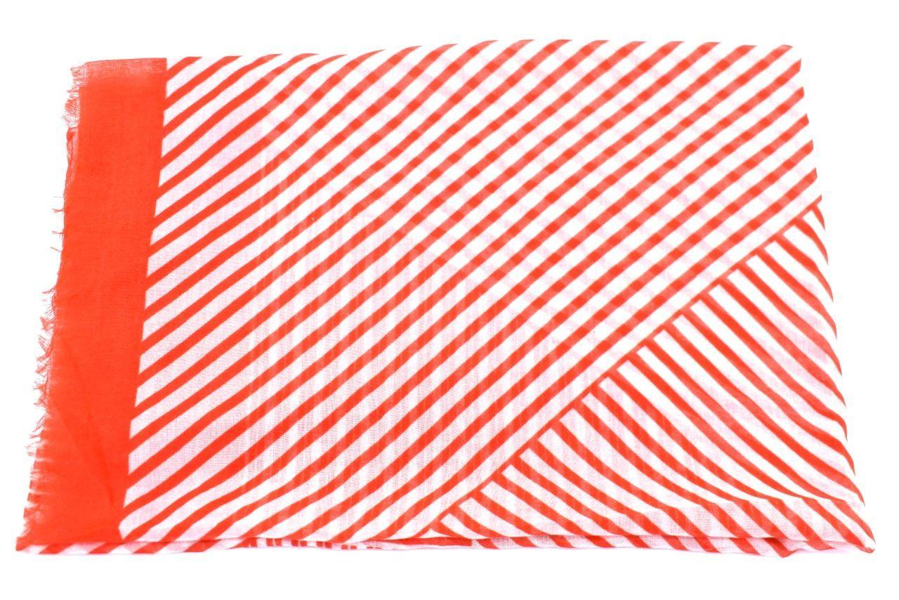 Dámský šátek s pruhovaným vzorem - červená