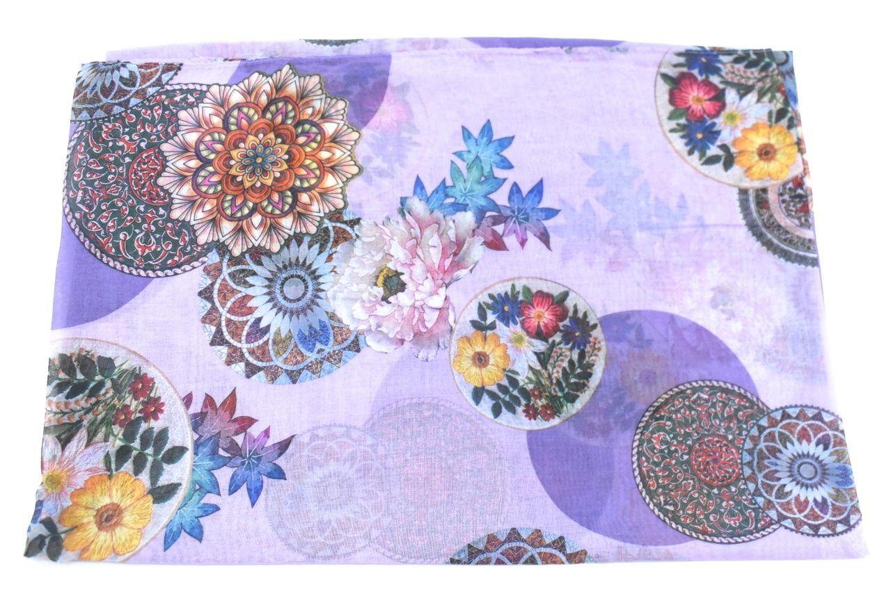 Dámský šátek s potiskem - fialová