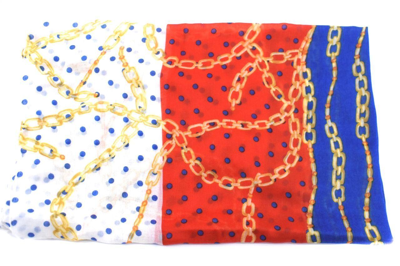 Dámský šátek s puntíky - červená