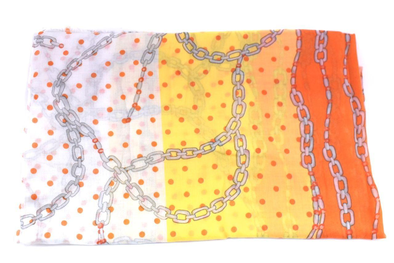 Dámský šátek s puntíky - žlutá