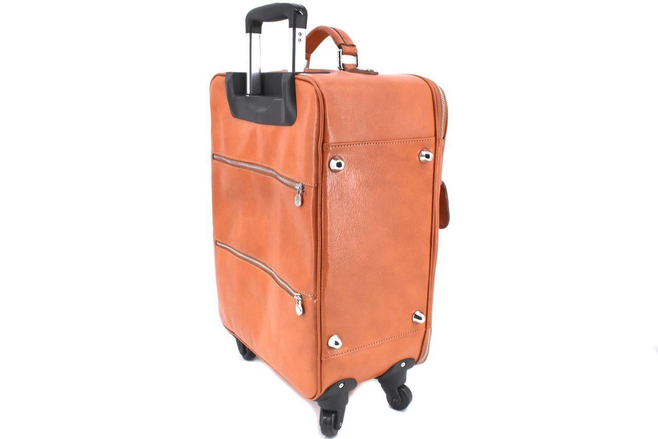 Cestovní palubní kožený kufr Arteddy - camel 45l 39989