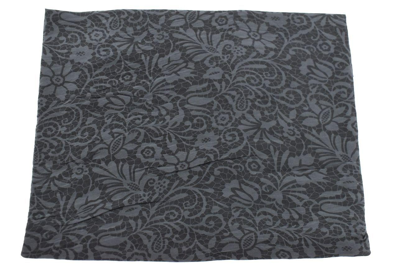 Dámský šátek Made in Italy  s květovaným vzorem - tmavě šedá